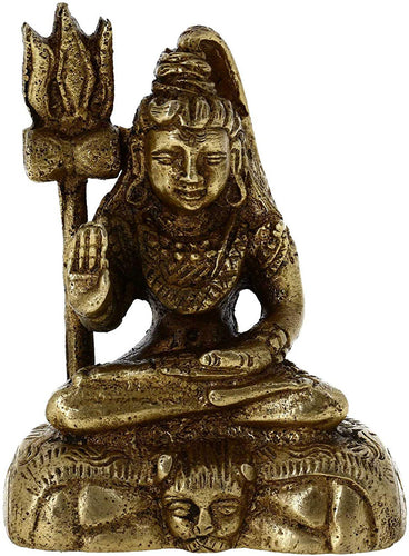 Sitting Lord Shiva Brass