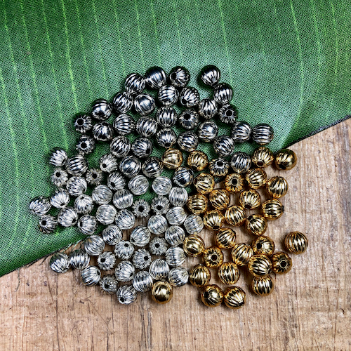 6mm Round Beads - 50 Pieces
