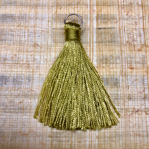 rayon tassel - acid lemon lime