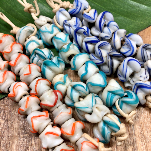 Funky Afghan Glass Beads - 9 Pieces