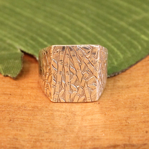 sterling silver ring - bamboo