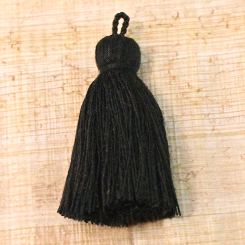 Cotton tassel - black
