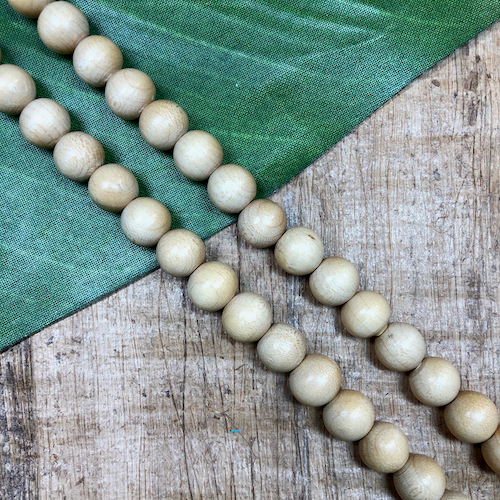 Blonde Wood Round Beads - 100 Pieces