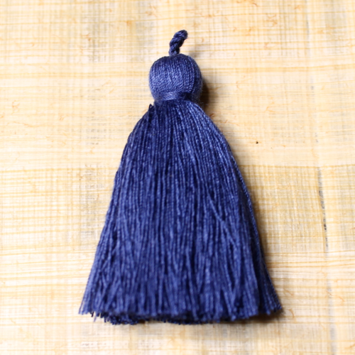 Cotton tassel - cobalt