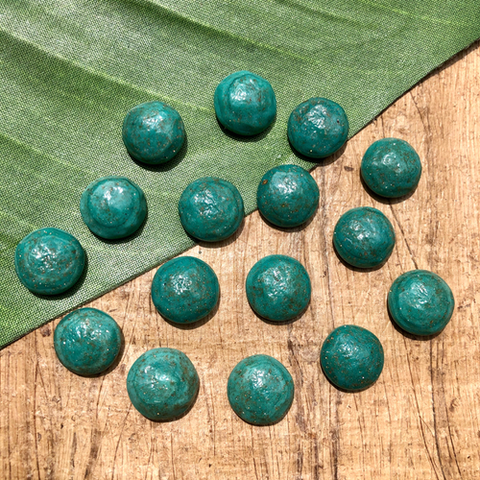 Green Turquoise Cabochon Lot - 16 Pieces