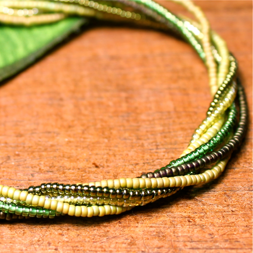 Multi Strand Seed Bead Necklaces - Short