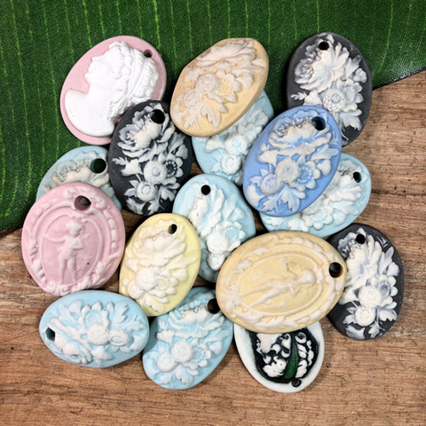 Porcelain Pendants - 12 Pieces