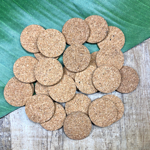 Mini Cork Coasters - 50 Pieces