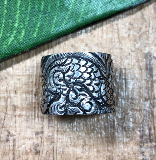 sterling silver ring - dragon