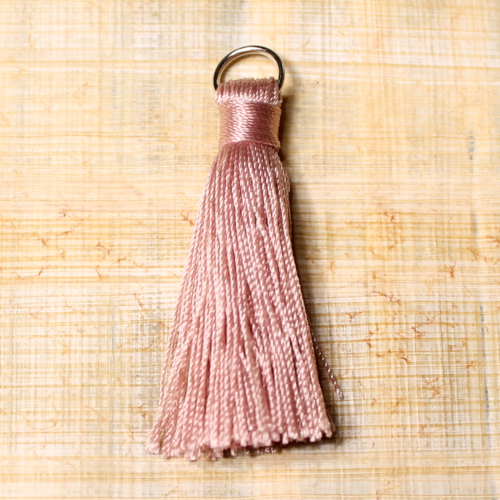 rayon tassel - dusty rose