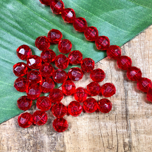 Faceted Pony Beads - 100 Pieces