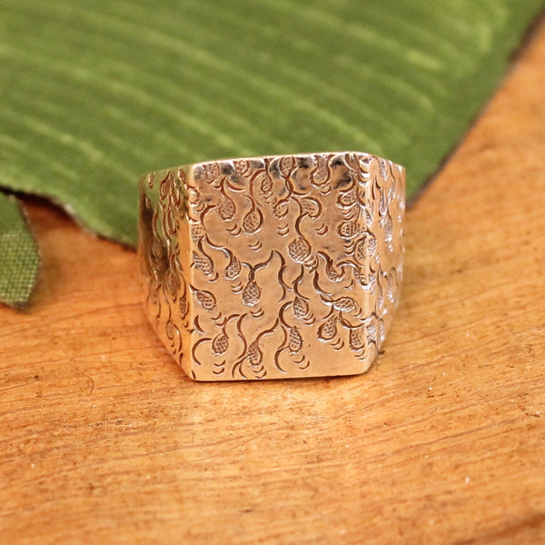 sterling silver ring - fire