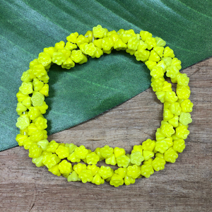 Yellow Flower Drop Beads - 150 Pieces