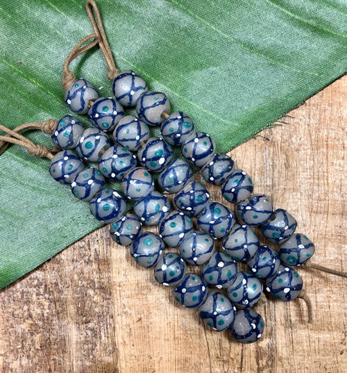 African Gray/Blue Glass
