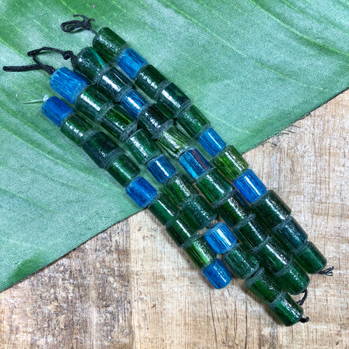 Turkish Blue & Green Glass - 11 Pieces