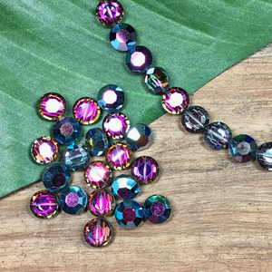 Vintage Swarovski Pink Rainbow Gray - 10 Pieces