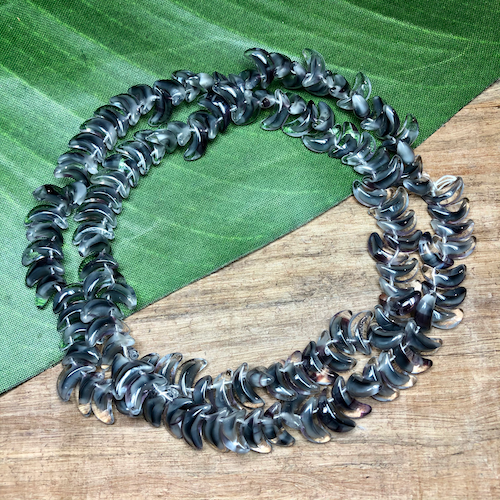 Gray Moon Beads - 125 Pieces