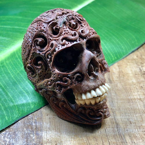 Small Saba wooden skull