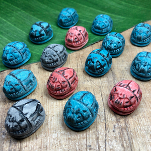 Ceramic Scarabs - 15 Pieces