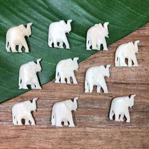 Bone Elephants - 7 Pieces