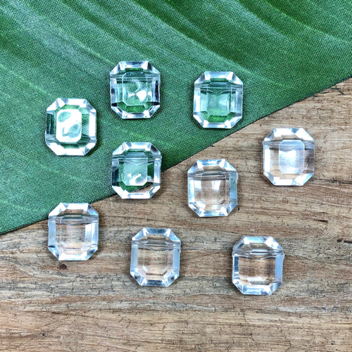 Octagon Faceted Crystal - 9 Pieces