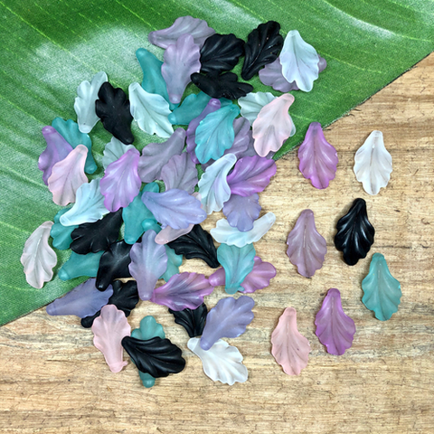 Lucite Leaves - 25 Pieces