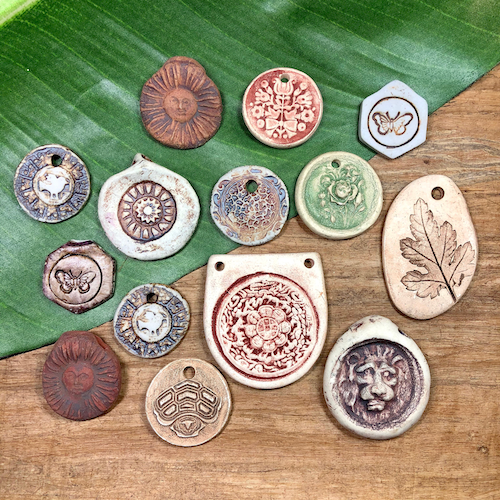 All the Ceramic Pendants - 14 Pieces