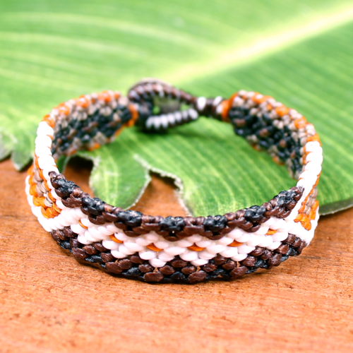 Macrame - orange/white/black