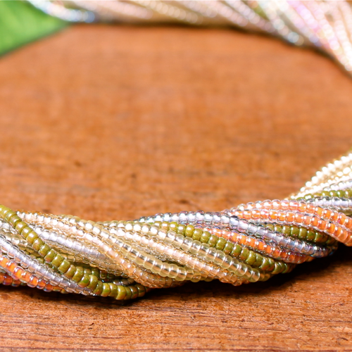 Multi Strand Seed Bead Necklaces - Thick 18 Strand