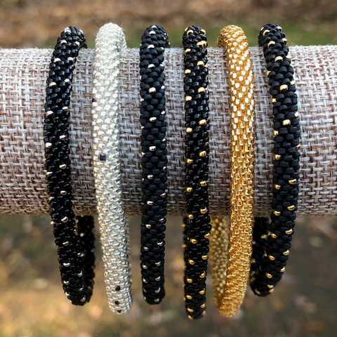New Year's Eve Beaded Bangles