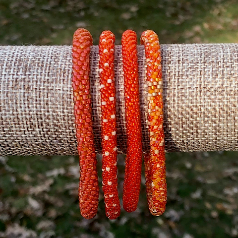 Sunset Beaded Bangles