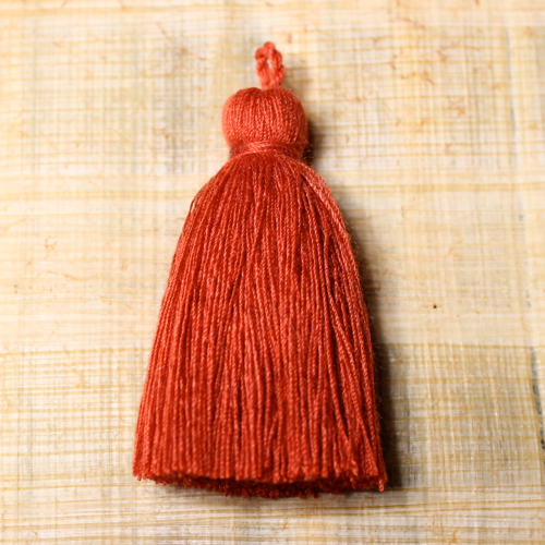 Cotton tassel - paprika