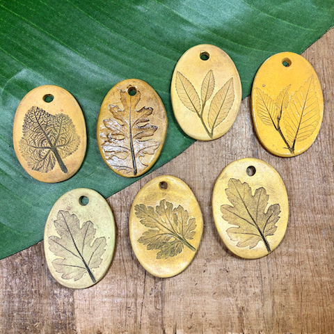 Oval Leaf Pendants - 1 Piece