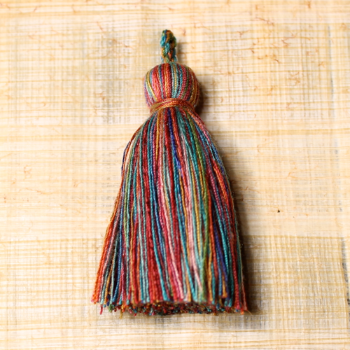 Cotton tassel - rainbow