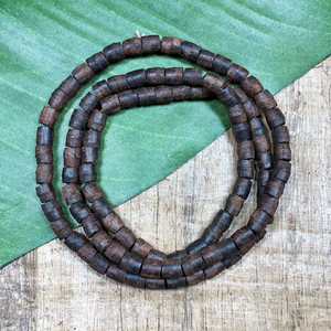 Dark Brown Barrel Beads - 100 Pieces
