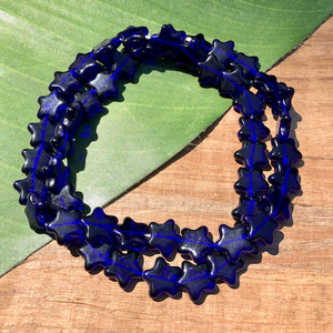 Blue Star Beads - 50 Pieces