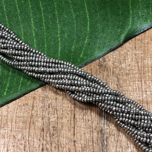 2mm flower stamped hill tribe strands