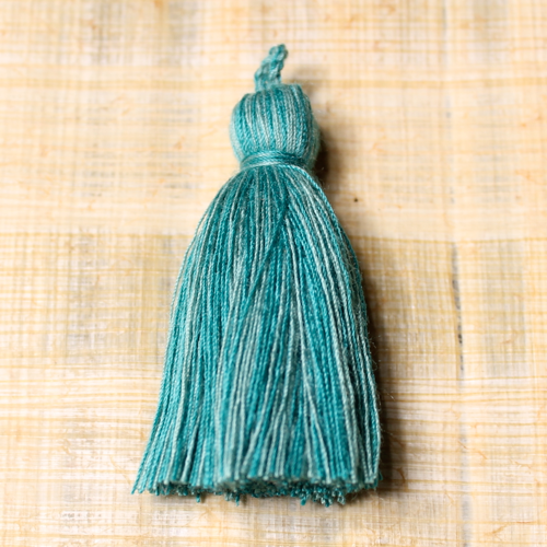 Cotton tassel - teal