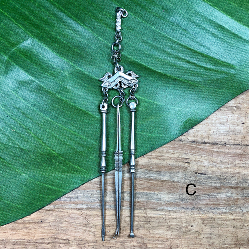 Antique Tibetan Silver Tool Sets