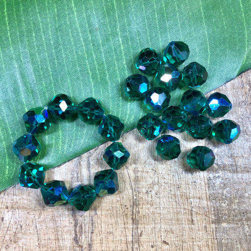 Vintage Swarovski Green - 10 Pieces
