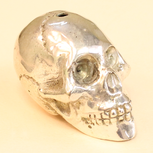 White Brass large skull