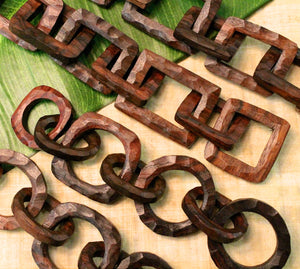 Hand Carved Wood Chain
