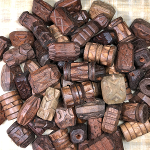 Huge Wood Beads - 50 Pieces