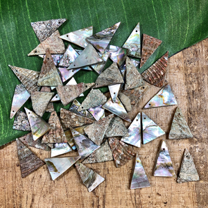 Abalone Triangle Pendants - 25 Pieces