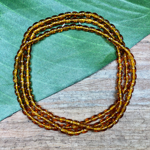 Amber Oval Beads - 140 Pieces