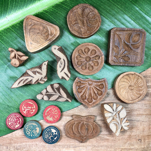 Assorted Wood Stamps - 17 Pieces