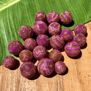 Wild Orchid Metallic Beaded Beads