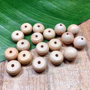 Blonde Wood Beads - 18 Pieces