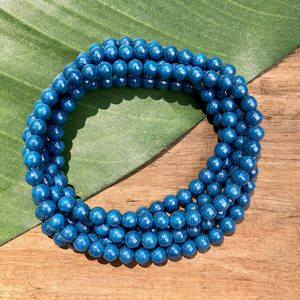 Blue Round 6mm Beads - 100 Pieces