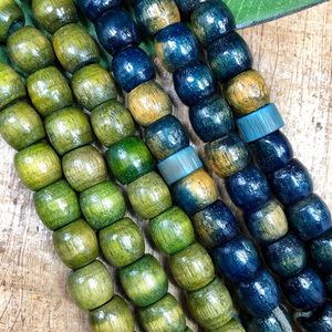 Wood Barrel Beads